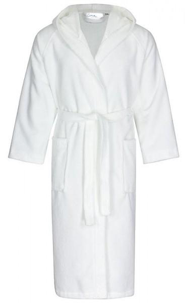 Kinderbademantel 2in1 mit Kapuze weiß